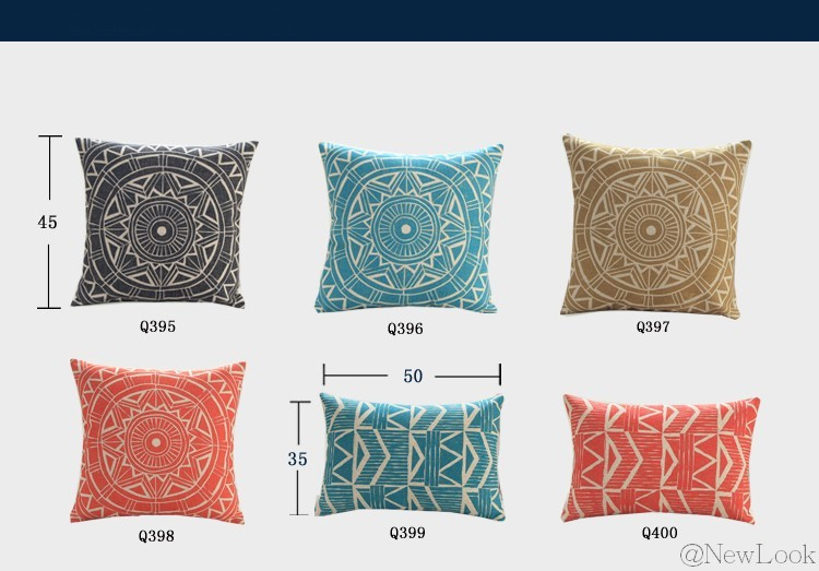 бирюза геометрические белье декоративные подушки броска украсить для дивана ИКЕА чехлы подушки домашнего декора q396