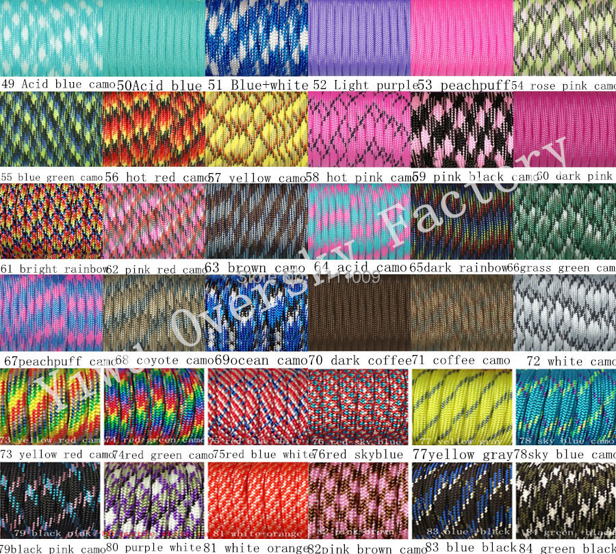 550 Paracord Rope 7 strand Parachute Cord 10 25 50 100 ft Country Girl Camo
