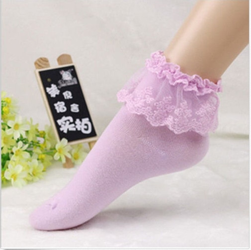 16 Fashionable Lovely Cute Fashion Women Vintage Lace Ruffle Frilly Ankle Socks Lady Princess Girl Favorite 5 Color Available 13