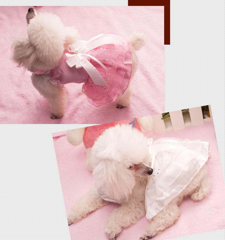Nueva rosa blanco pet vestido de traje de boda para perros smoking ...