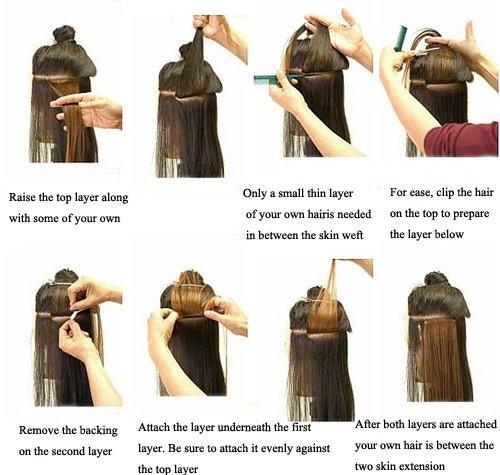 parent Devon волна уток кожи ленты для волос 40 шт., не ультра-сани prim ленты волос # 1В с черной