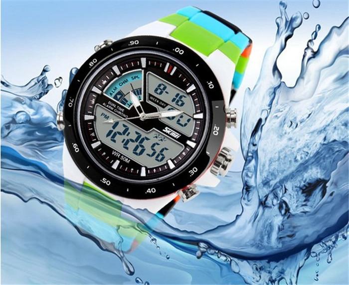 02324fe8391cb Skmei ماركة الساعات الرياضية الرجال relojes led الرقمية ووتش صدمة ...