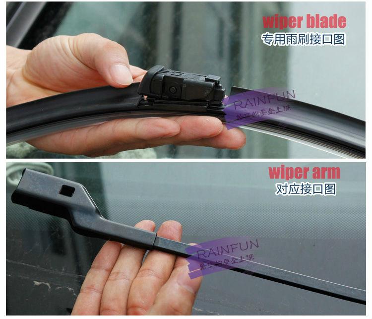 RAINFUN S590 27+ 25R специальный автомобиль стеклоочистителя для Buick Excelle XT, горячая Распродажа стеклоочиститель с натуральным каучуком, 2 шт. в партии