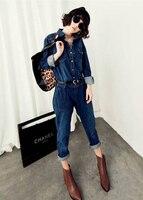 новые женские европа фрок полукомбинезона жан женская сиамские с девушкой джинсы комбинезон женский n230