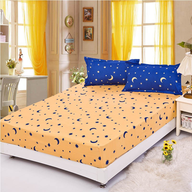 Home textile bed sheet sheet flower mattress cover printing bed sheet elastic rubber bedclothes 180*200cm summer bedspread band 19
