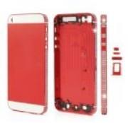 белый алмаз корпуса лицевая панель с комплект кнопок для iPhone 5 с красный