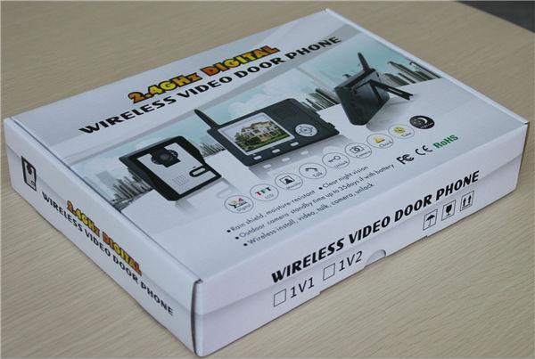 3,5 дюймовый монитор 2,4 ГГц цифровой беспроводной цветной видео дверной телефон