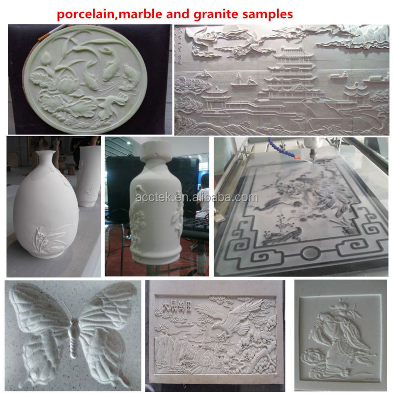 porcelain ,stone and marble engraving samples
