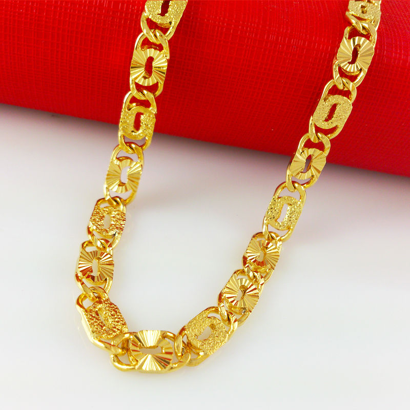 Wholesale thick chain for men jewelry necklace 24K Gold plating ...