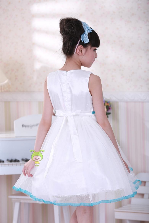 White and blue latest dress designs for flower girl dresses for 7 aeproducttsubject ombrellifo Choice Image