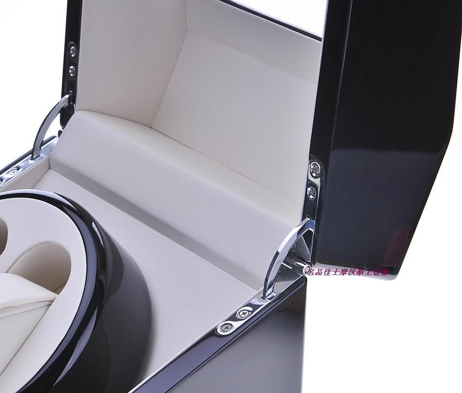 новый роскошный автоматический вращающийся блеск для губ фортепиано краски черный деревянные 2 + 2 часы / дисплей коробка / бесплатная доставка