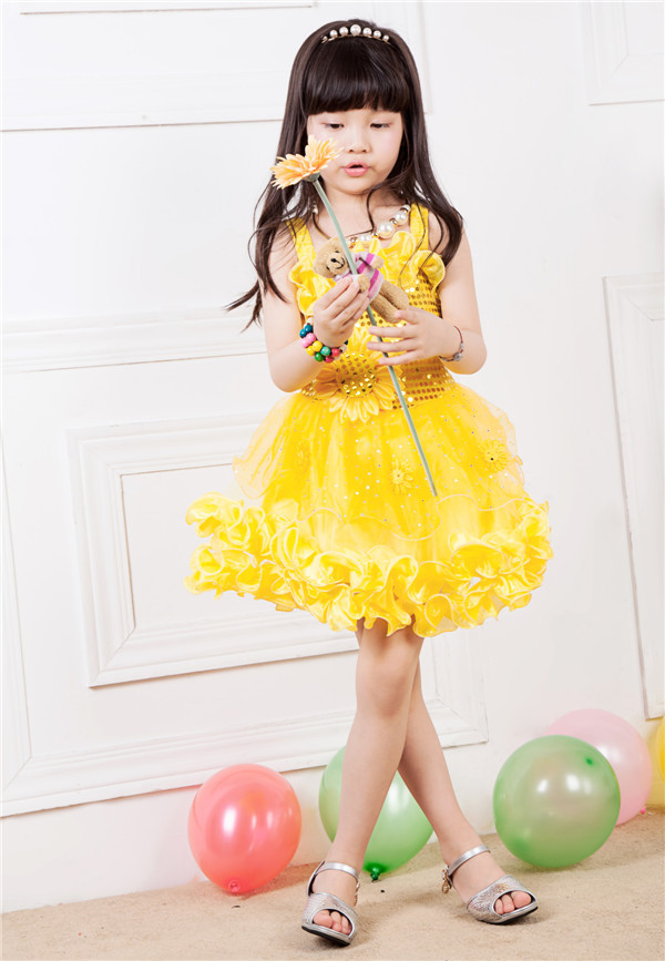 Aliexpress.com : Buy New Fashion 2015 Summer Little Girls Yellow ...