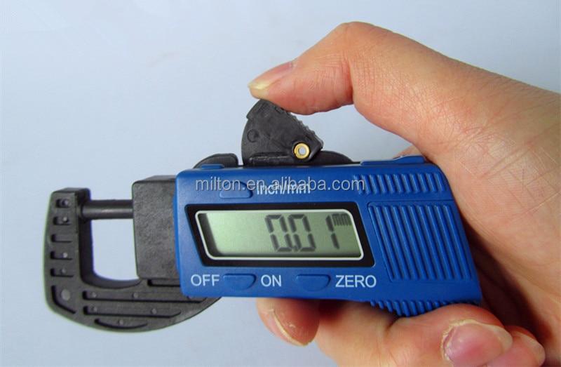 Прямая пластиковый цифровой толщиномер измеритель толщины Датчик микрометрический суппорт 0-12.7mmx0.01mm, 5 шт./партия