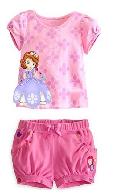 a18375177b7 Hot sale fashion summer children girl clothing set cartoon top + pants baby  casual suit twin set-in Clothing Sets from Mother   Kids on Aliexpress.com  ...