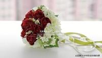бесплатная доставка красная роза ядер невесты букет шелк цветок ведро модель
