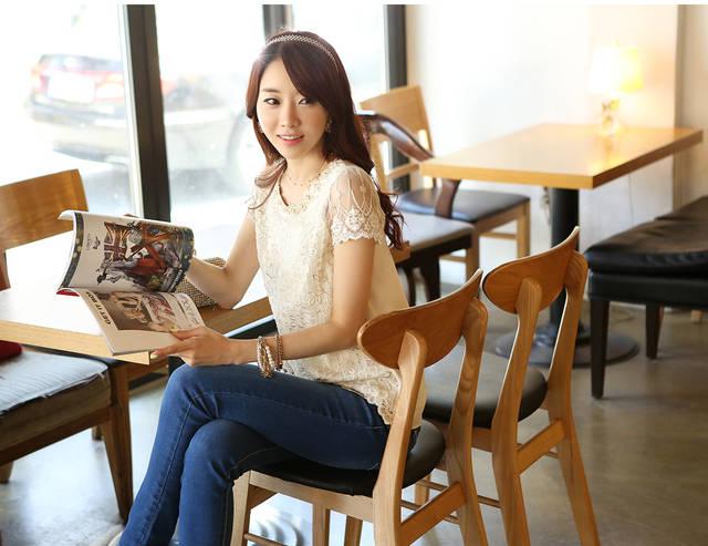 Мода лето новое предложение женщин шифон рубашку кружевной Топ бисером вышивка o шеи женщин блузки кофточки S-XXXL d338A31