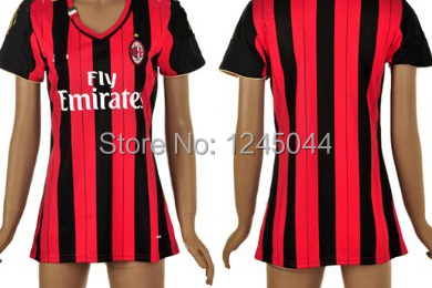 d1dbdb3bf368 ... Women AC Milan Jersey 13 14 Red Black Blank Customized 2014 Home AC  Milan Soccer Jerseys