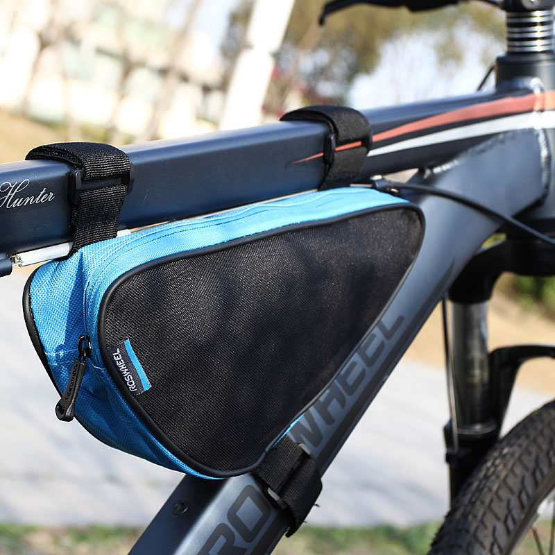 roswheel 4 colors waterproof 15l outdoor triangle cycling bicycle front tube frame bag mountain bike pouch in bicycle bags panniers from sports - Mountain Bike Frame Bag
