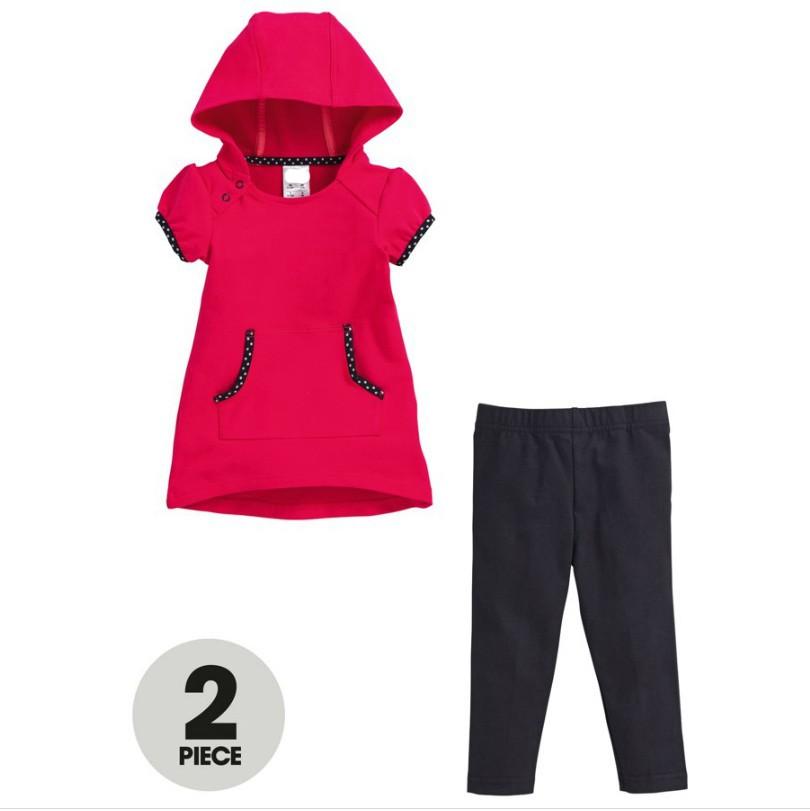 девочка лето одежда комплект стоит задача krusty д красный пальто + черный брюки марка дизайн малыш девочка лето спорт костюмы