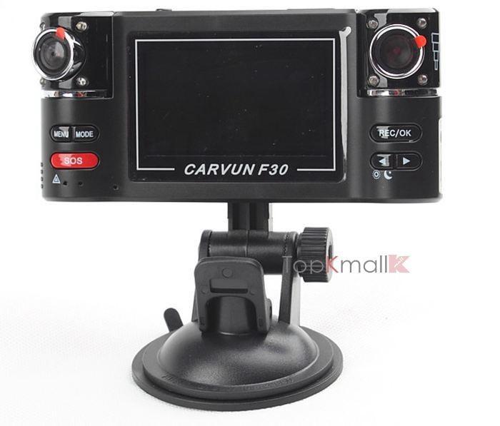 быстрая доставка автомобильный видеорегистратор 2.7 дюймов высокой четкости 1280 * 720 двойной портативный видеорегистратор камеры автомобиля с ночного видения автомобиля видеорегистратор f30 автомобильный видеорегистратор