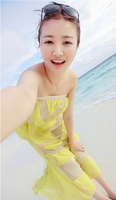 весна лето женщины в камера верхний шифон длинная макси длинное платье пляж ремни свободного покроя платье z0161