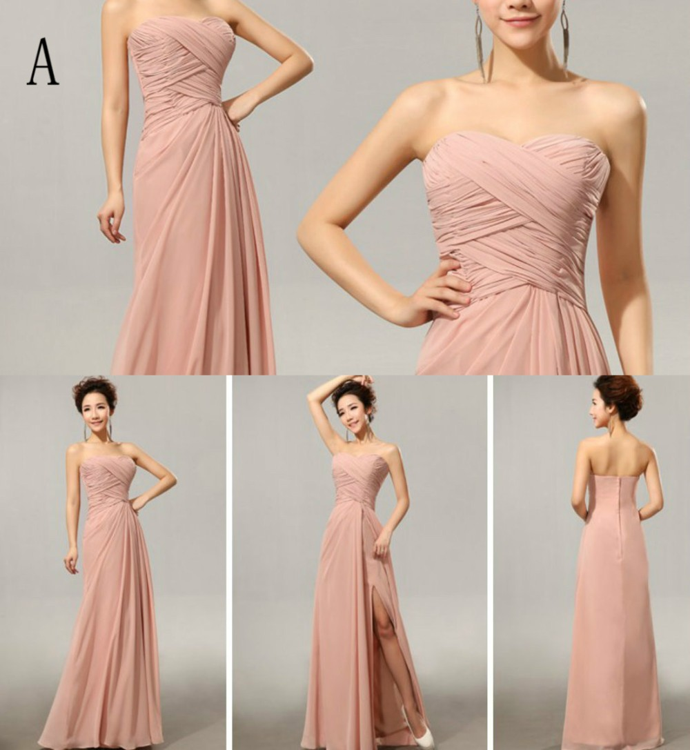 Cx shine chiffon split long bridesmaid dresses custom colors mix a1 ombrellifo Gallery