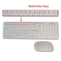 продвижение 2.4 ггц ультратонких беспроводная компьютерная клавиатура комплект мышь беспроводная клавиатура комбо с 10 м расстояние для портативных пк