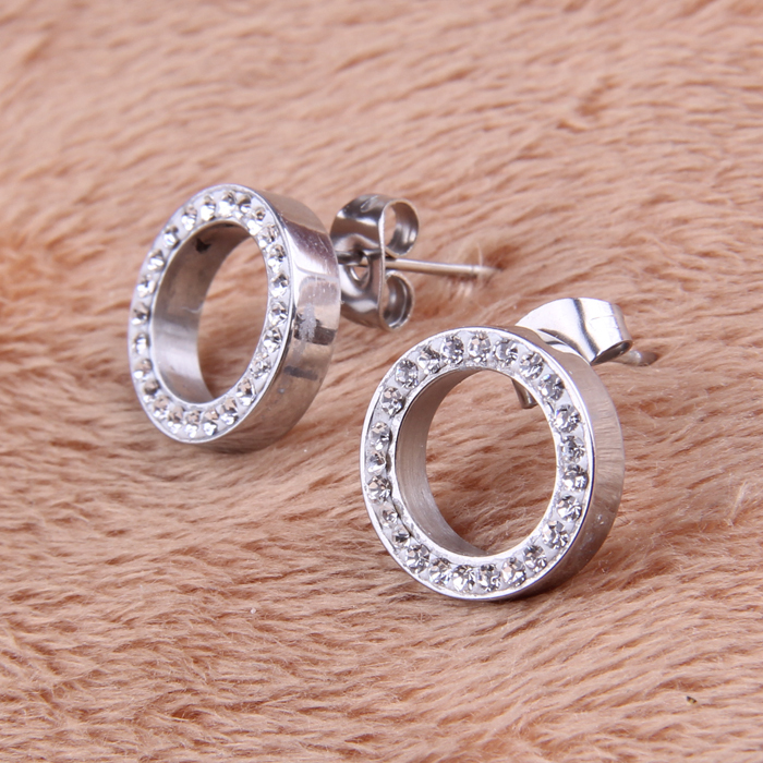 316L Stainless Steel Earring Crystal Stud Earrings For Women Joyas Brincos Bijoux Jewelry Earings Fashion 8