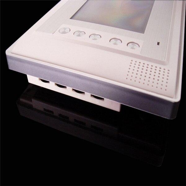 7 дюймов ЖК-дисплей Цвет видео-телефон двери внутренной связи Системы влагостойкая ночного видения Камера домашней безопасности