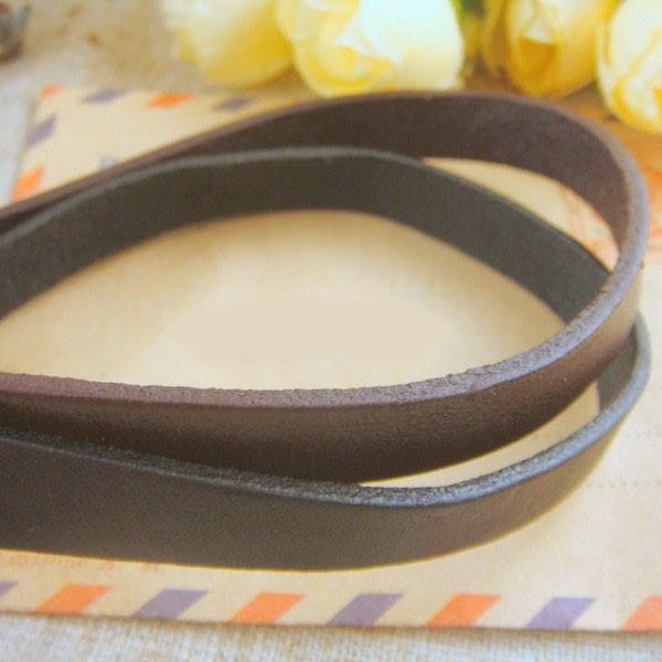 поделки аксессуары 2 шт. / 10 мм черный из натуральной кожи канат браслет плоский кожаный шнур аксессуары материалы