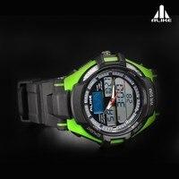 так аналоговый - цифровой светодиодный дисплей спорт часы / часы для мужчины японский кварцевый ak1272 30 метр водонепроницаемый - зеленый