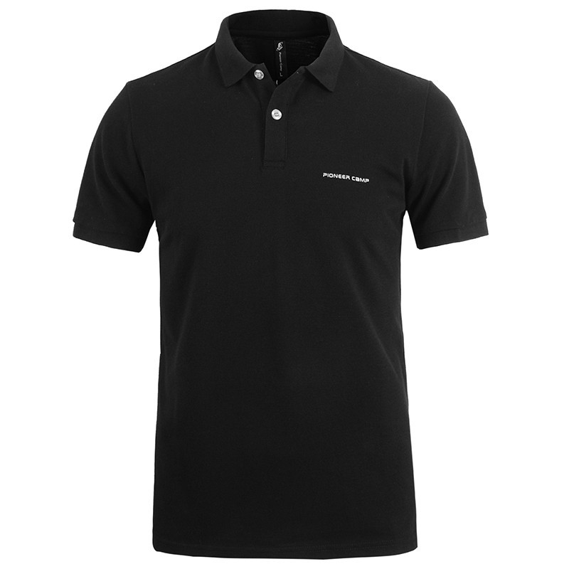 Men Polo Shirt Men Business Casual Solid Male Polo Shirt Short Sleeve High Quality Pure Cotton 26