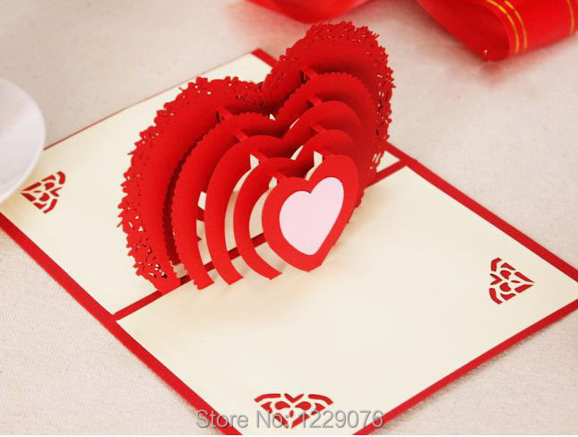 3d pop up novelty festive happy new year hand made folk art day heart card cover new year m4hsunfo