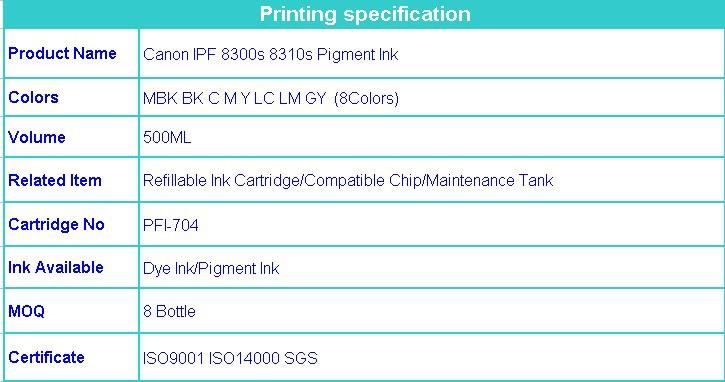 canon ipf 8300s ink 500ml