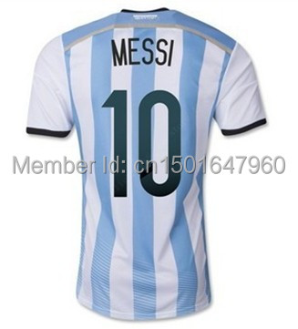 c4a0c64ed 2014 World Cup Argentina jersey   soccer player Lionel Messi ...