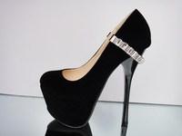 пакеты почте 16 см с алмаз тонкий и сексуальное подиум клуб мс черные туфли водонепроницаемый туфли на толстой подошве