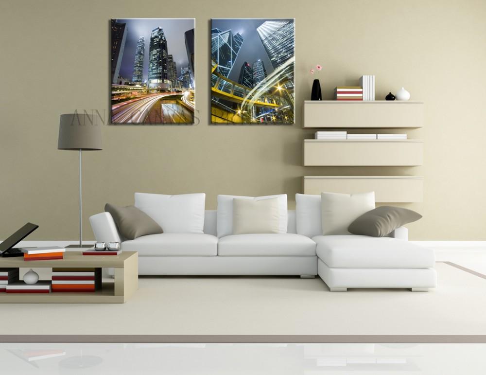 2 панели современные peat картина картина из город ночной просмотров большой картины на стены искусства host для гостиной декор стены Visit чемпионата