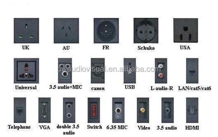 BW TA Conference Table Pop Up Media HubDesktop Power Outlet With - Conference table pop up outlets