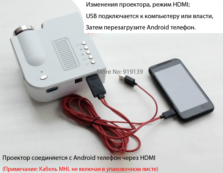 UC28 Projector connect with Android phone