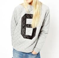 оптовая продажа человек марсиане МР-005 новый черный серый с длинным рукавом Alma рисунком 6 печать свитшот женская вышивка пуловер