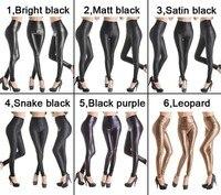 se153 бесплатная доставка мода женщин ' обвинение искусственная кожа леггинсы высокой Tale лыжах брюки большой размер