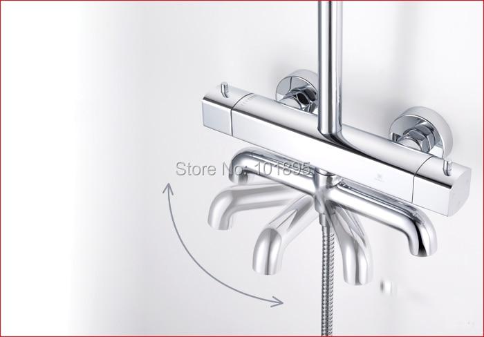 L15186-Роскошные Настенные Латунь Материал осадков Насадки для душа с смесителя душ Железнодорожный бар
