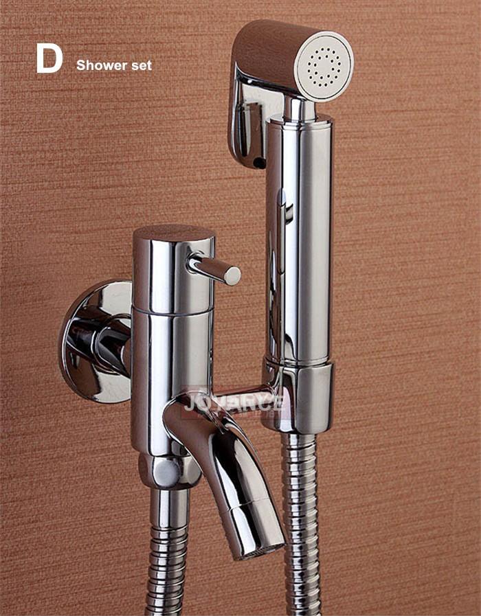 100%Brass Hand held Bidet Spray Toilet Bidet Faucet High Pressure ...