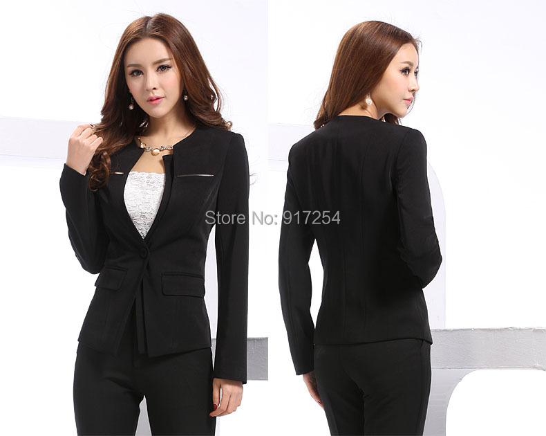 fa7cca9a412 New Plus Size XXXXL Professional Women s Uniform Suits Elegant Career Suits  Business Women Work Wear Sets With Skirt S 4XL-in Skirt Suits from Women s  ...