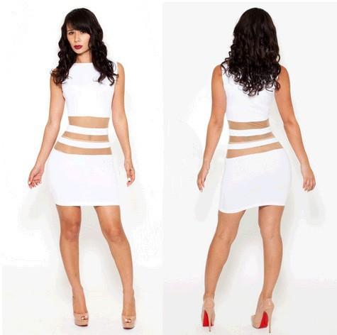 платье, европейский и америка клуб белый цвет пэчворк прозрачный шифон повязки
