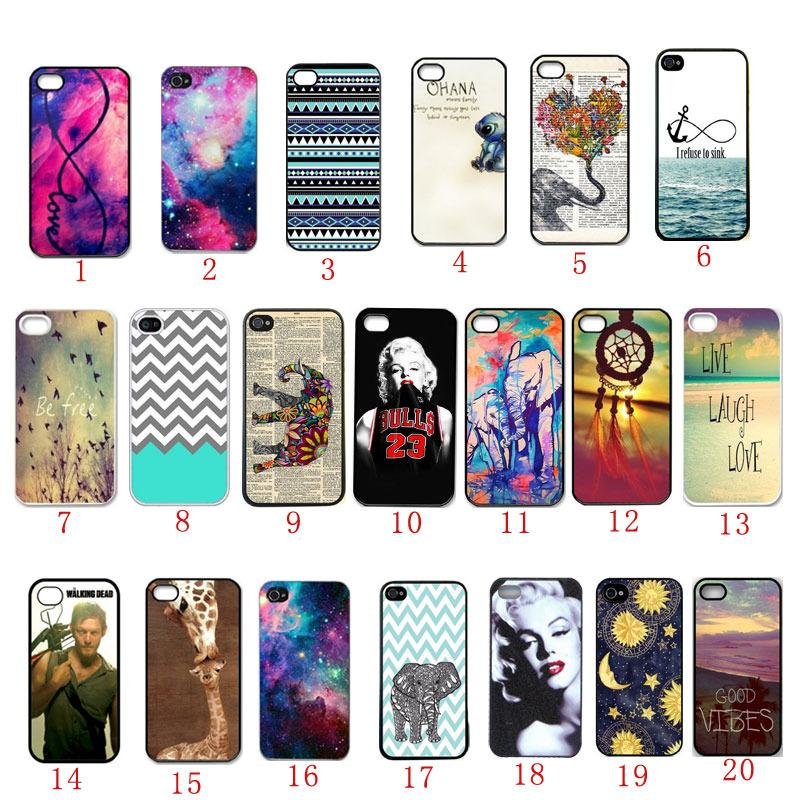 cheap for discount 33048 fa168 Fashion Plastic Crust Cell Phone Case For Iphone 4S Case Hard Cover  Protective #5884Addison