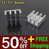 скидка 50% + бесплатная доставка 2, 000 шт. 11*11*5 мм дешевые цены процессор алюминий радиатор для распродажа