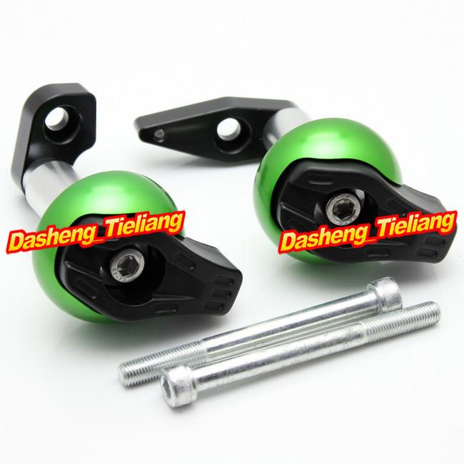 для Кавасаки ЕР-6н & er6n рама ползунки краш колодки протектор, мотоцикл запасных частей и аксессуаров, цвет зеленый