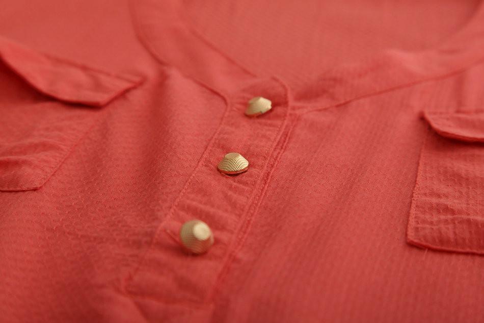 1129 новый бренд хлопок карман блузки рубашки с рукавом Cook Splash цвет линии blusas бразилиа бесплатная доставка М / Л / хl