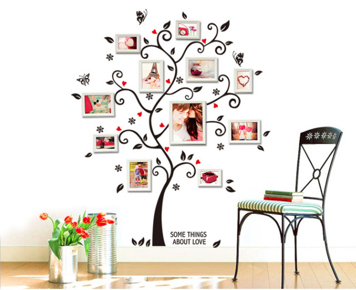 Room Photo Frame Decoration Family Tree Wall Decal Sticker Poster On A Wall  Stickers Tree Wallpaper Kids Photoframe Art In Wall Stickers From Home U0026  Garden ...